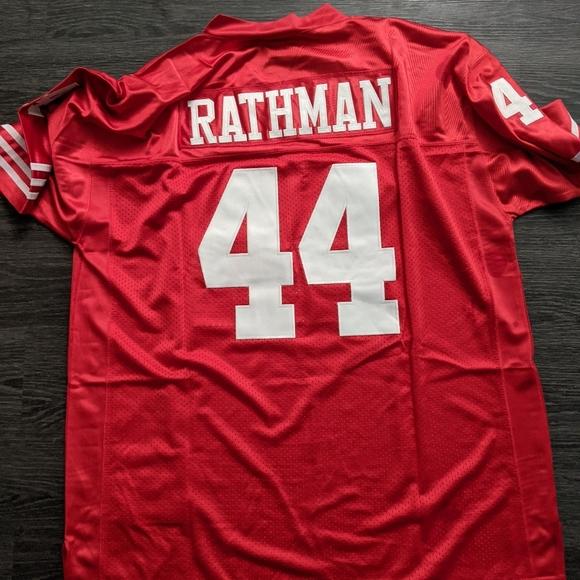 Tom Rathman 49ers throwback jersey NFL